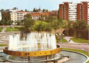 Timisoara - Bulevardul Leontin Salajan, fantana Punctelor Cardinale