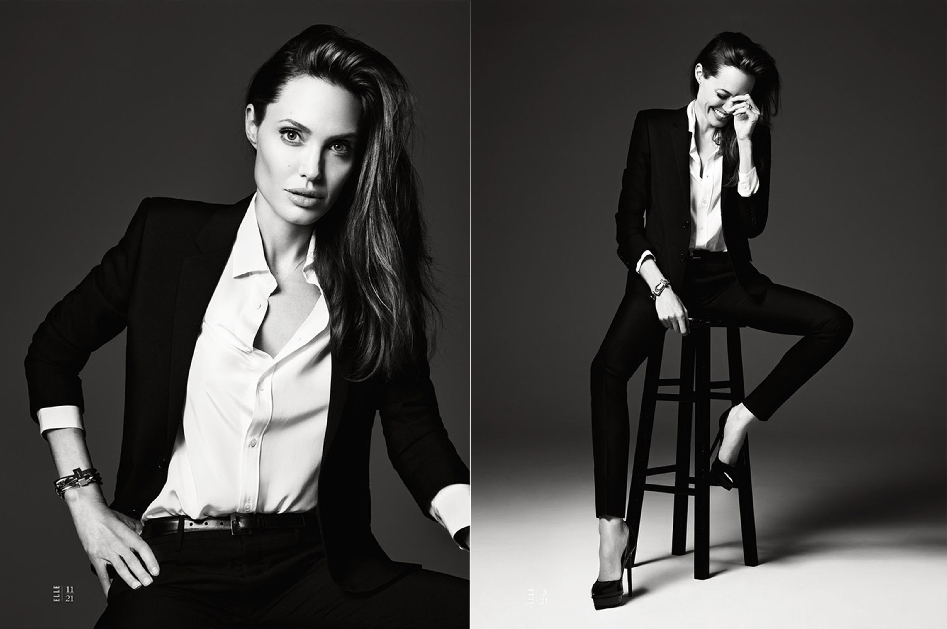 Angelina Jolie  for Elle US