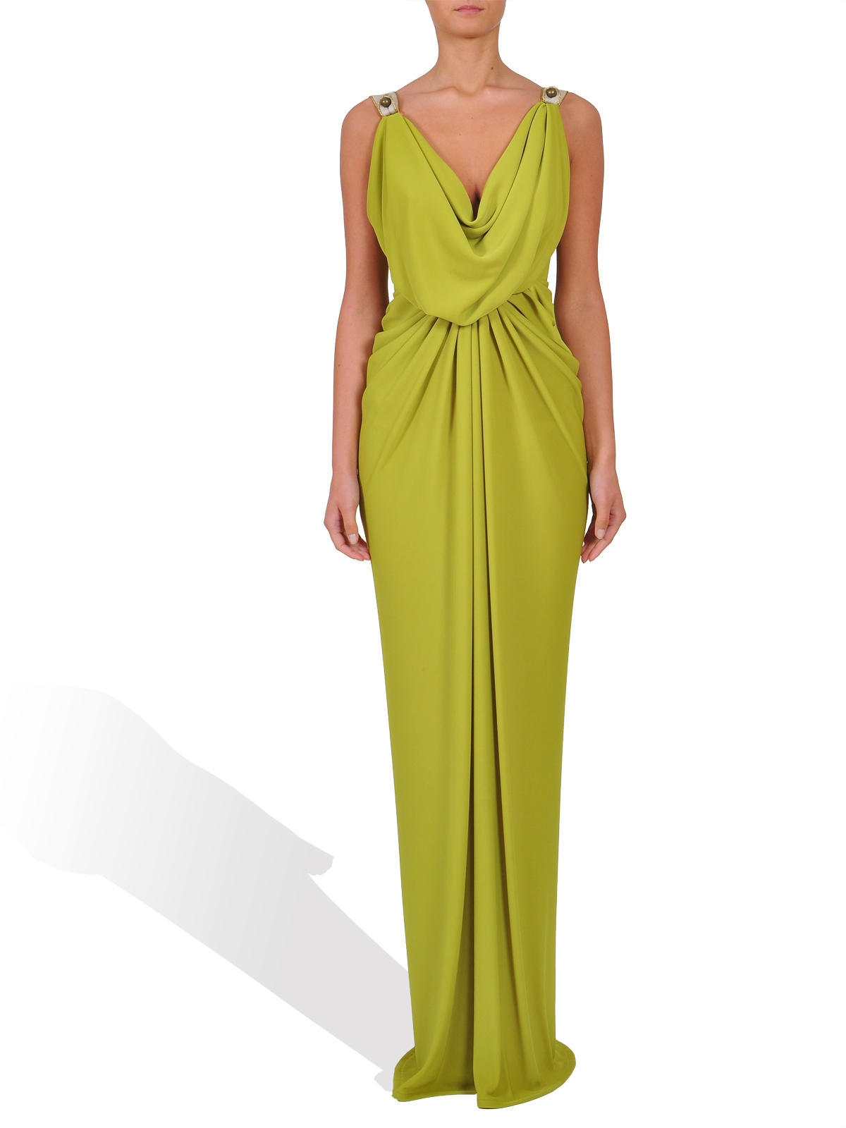 Long draped dress by MIRELA DIACONU
