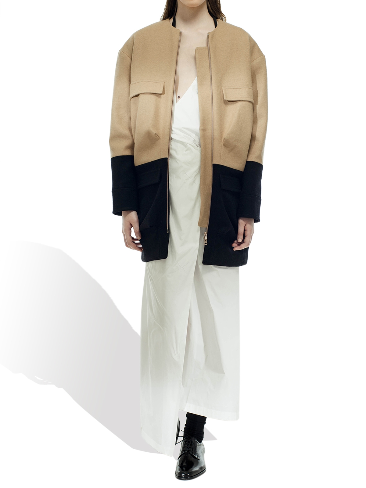 Bicolored Coat by M12
