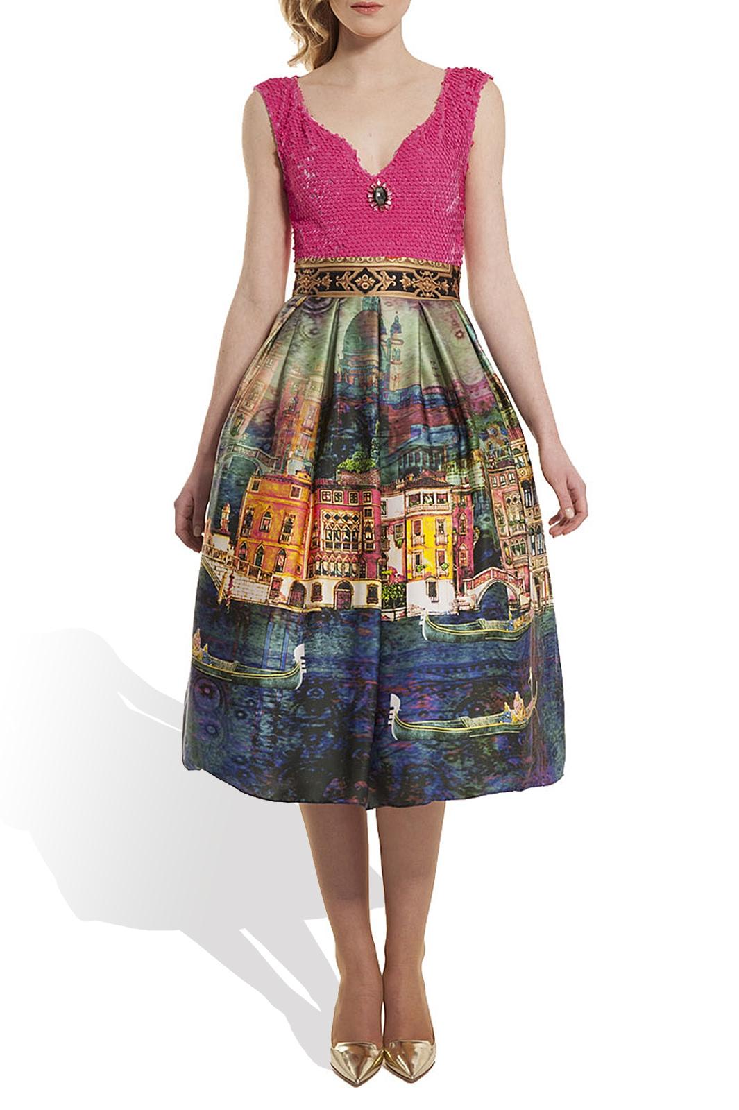 Silk Dress by ELENA PERSEIL