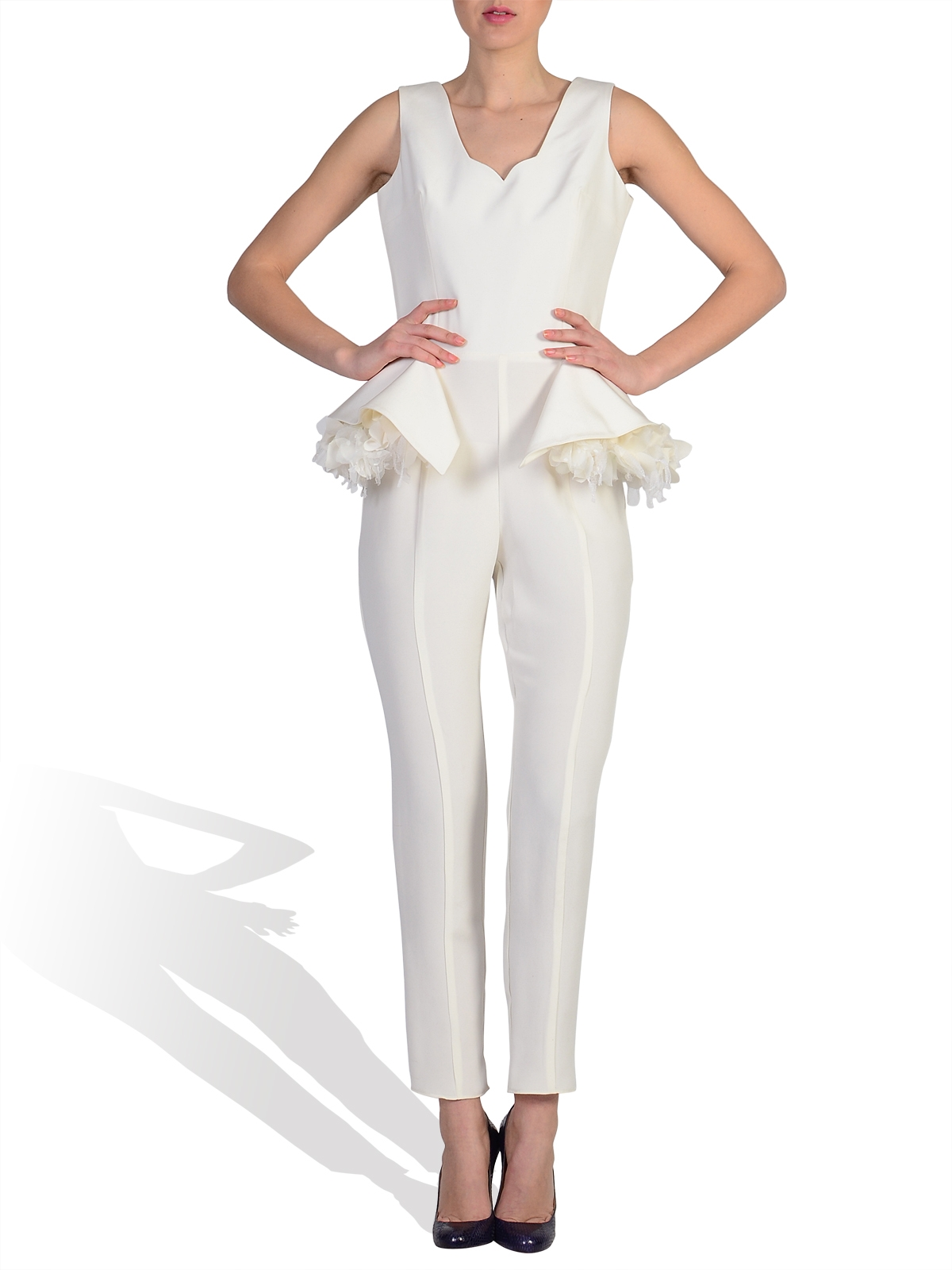 Silk Crepe Jumpsuit by Parlo