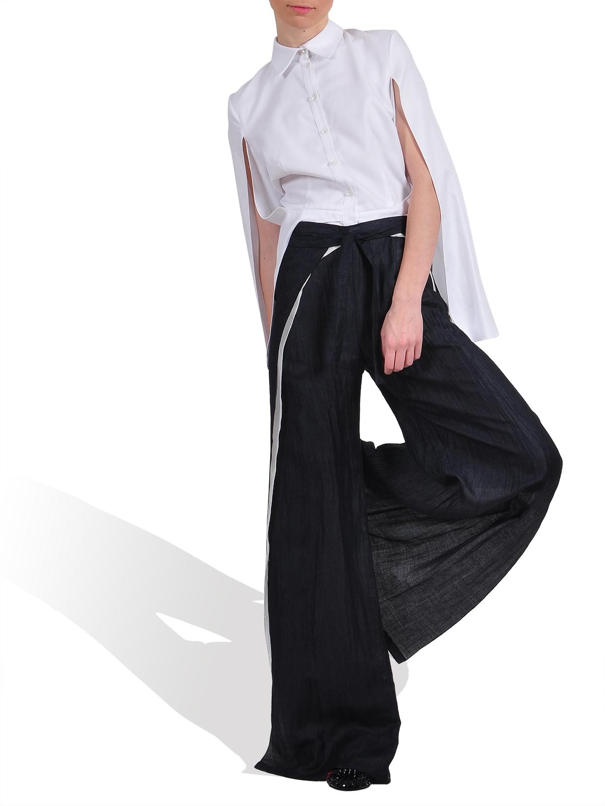 Wrap Tie Trouser by CRISTINA SABAIDUC:
