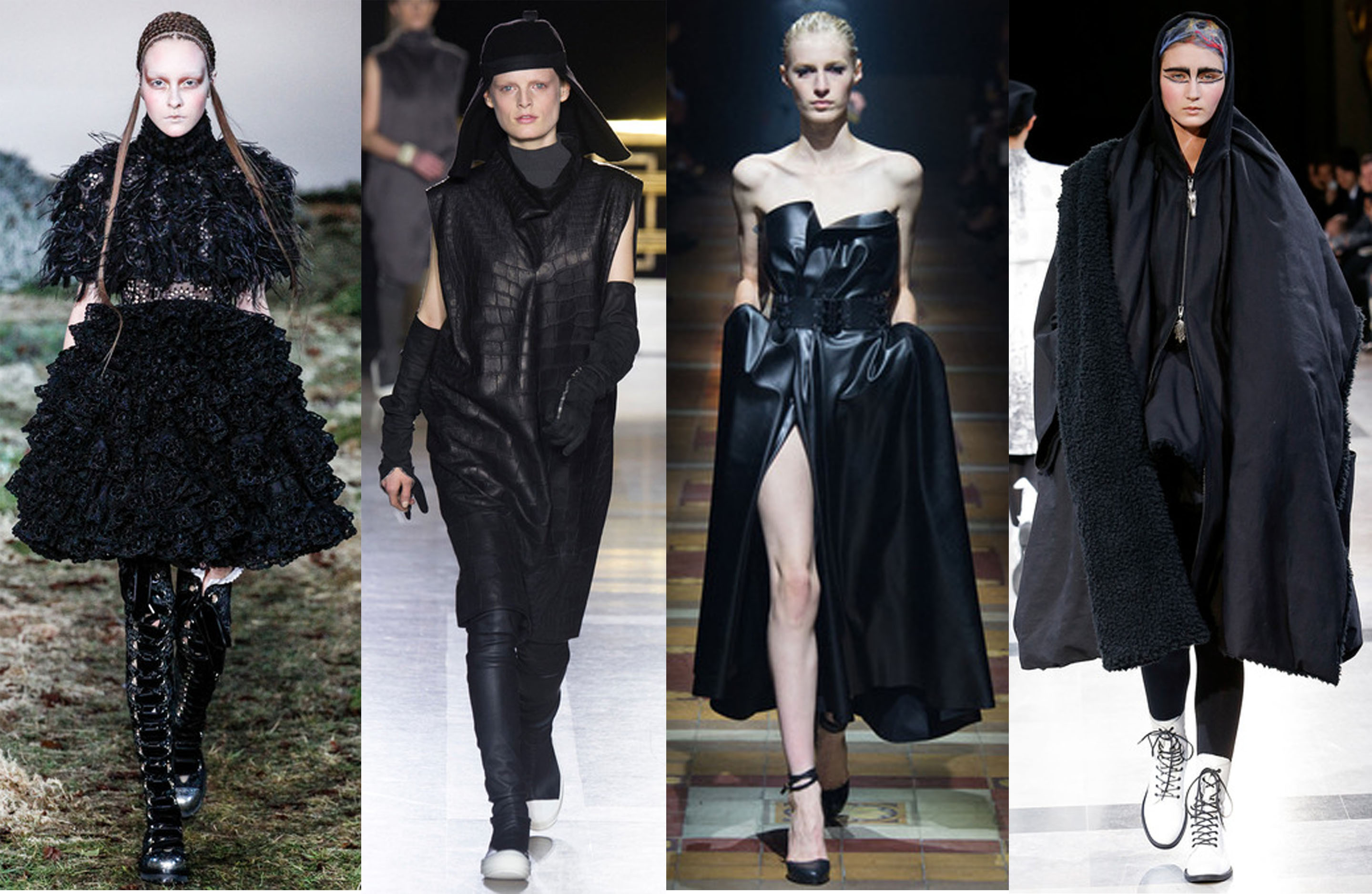 Alexander McQueen, Rick Owens, Lanvin, Yohji Yamamoto Fall 2014