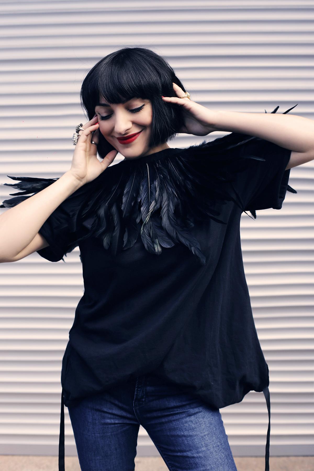 Ana Morodan wearing Book Cover Tee VI by Ana Morodan