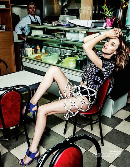 Andreea Matei wearing Manokhi Skirt
