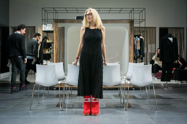 Noemi Meilman wearing Irina Marinescu dress
