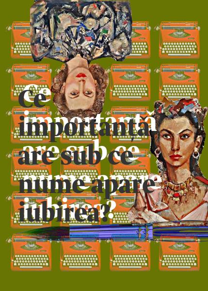 intalnire Serghi si Radulescu, cartolina by Silvana Catalinescu